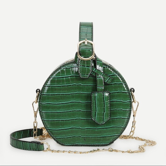 664eee11edb Trendy Croc Inspired Round Chain Bag 🐊 NWT